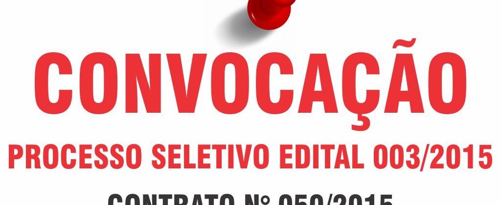Edital 003-2015 contrato 050-15