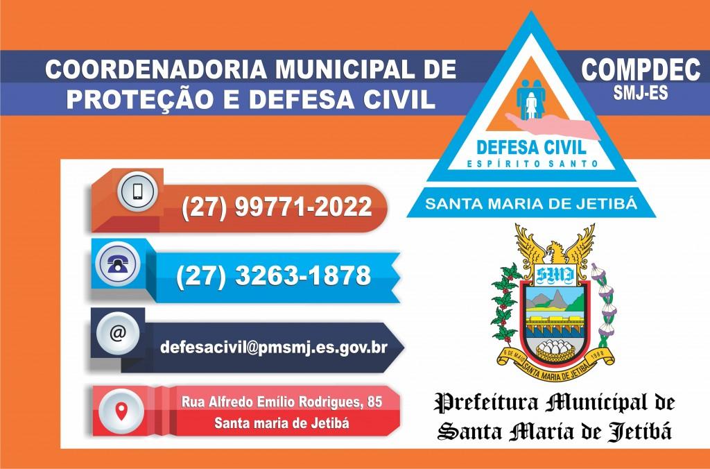 INFORMAÇÕES SOBRE A DEFESA CIVIL DE SANTA MARIA DE JETIBÁ