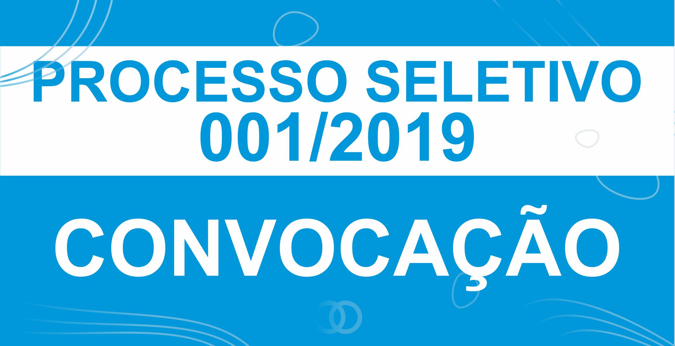 PROCESSO SELETIVO 001.2019